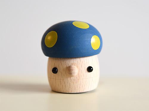 どんぐりきのこ(ブルー)/おもちゃのこまーむ