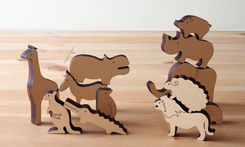 木の動物セット noe/MastroGeppetto